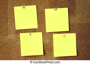 Blank post-its 2 - The surface of the post-its is...
