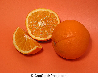 Orange oranges - Fresh oranges on orange background