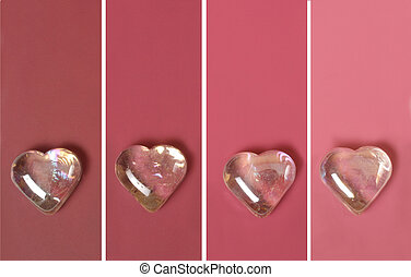 pink paint chip - paint chips with icy hearts in pink