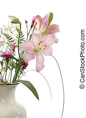 Bouquet with lilies, isolated