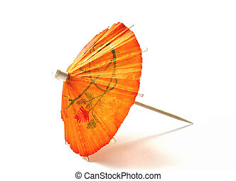 cocktail umbrella - orange cocktail umbrella