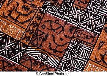 aboriginal design from a native cloth