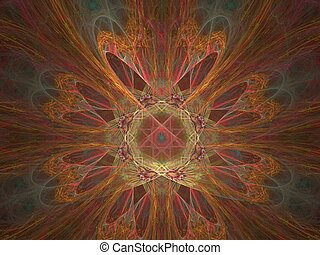 Second Mandala - Apophysis Mandala, large file, containing...