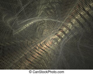 Metal snakes - Metallic abstract, created with Apophysis,...