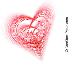 Complicated Heart - Complex Heart-highly detailed fractal...