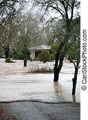 Need Flood Insurance - Property damages in winter stormflood...