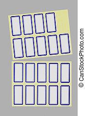 Labels - unused rectangular labels