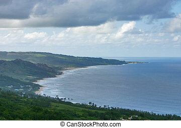 Coastline - View from Hackleton s, Cliff, Barbados.