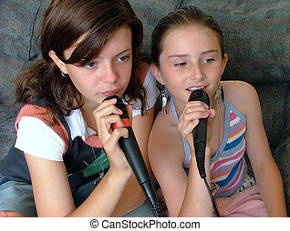singing - beautiful girls singing