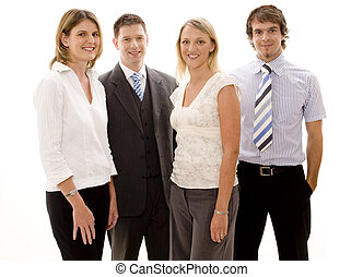 Young Business Team - Four men and women in business wear