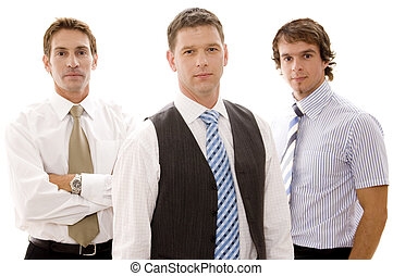 Confident Business - Three confident businessmen in...