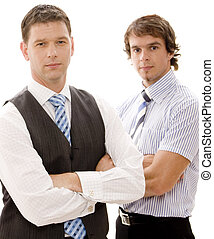 Serious Business - Two serious looking businessmen (shallow...