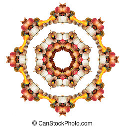 Autumn mandala - autumn mandala with fruits and vegetables