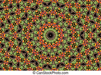 Apple mandala - apple mandala like orient carpet