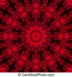Passion - red flower mandala