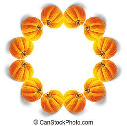 Pumpkin mandala - orange pumpkin mandala