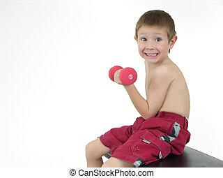 Pocket hercules 40 - Boy lifting weights