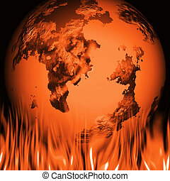 Global warming - Conceptual image depicting global warming
