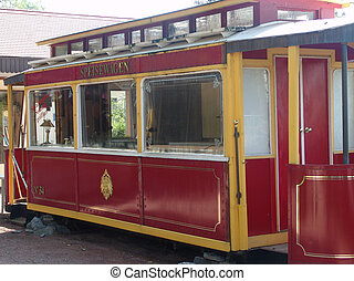 Streetcar - An old streetcar used as a restaurant in East...