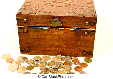 Treasure chest 6 - Digital photo of a little chest with...