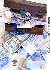 Treasure chest - Digital photo of a little chest with money