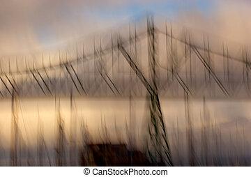 Astoria-Megler, ponte, foto, Impressionismo