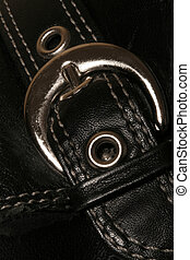 buckle - marcro of leather and metal buckle