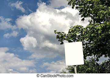 sign post against the sky