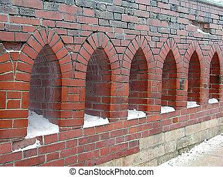 Bridge windows 2 - Artistic loopholes on a bridge near the...