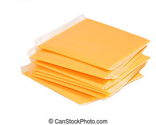 Cheese - Stack of processed cheese slices