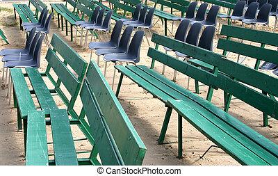 outdoor empty seats