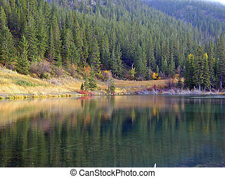 small mountain lake - a lake in the Rocky Mountains