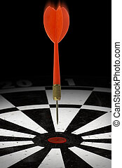 Bulls Eye - Dart headed for a bulls eye