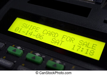 Credit Card Machine - Credit card machine ready for the scan...