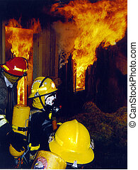 Inside the Inferno - , a fire officer with his...