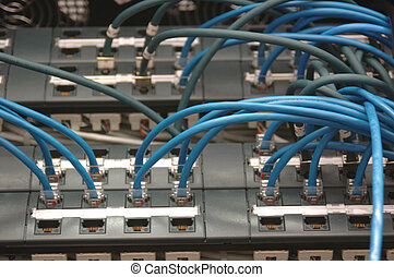 network patching - Network cables patched into a datacenter...
