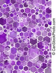Hex - Purple hexagonal shapes