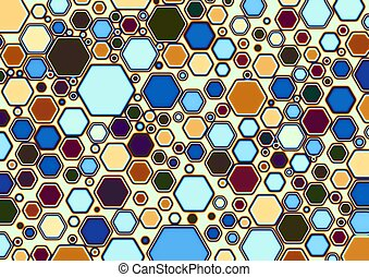 Hex-heated - Multi colored hexagonal shapes