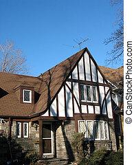 Tudor House - Tudor house with bright blue sky