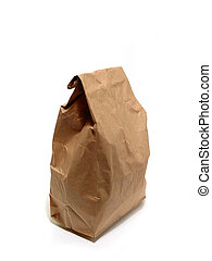 Lunch paper bag brown - Brown paper lunch bag isolated on...