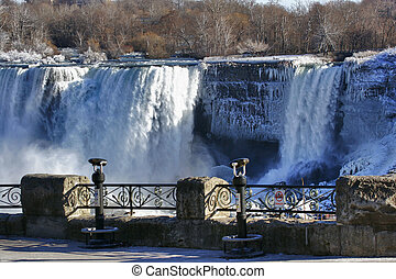 Mr. Frost - Niagara Falls. View from canadian side on...