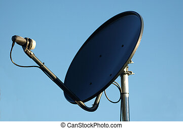 Satelite Dish - Close- up of a TV and Internet Satellite...