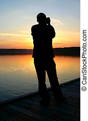 photographer capturing sunset 2