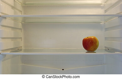 The Diet - Single apple in fridge for the healthy concious