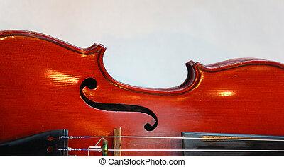 violino, curva