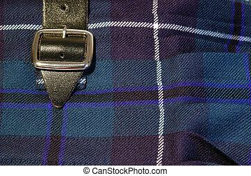 Kilt Buckle - Close up of a buckle on a scottish kilt