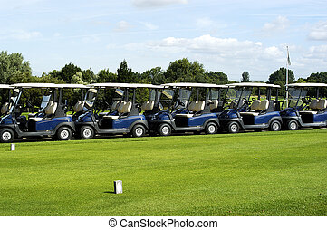 Golf Carts - Row of golf carts