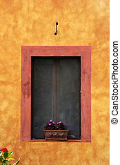 Italian Window - Colourfull italian window in Tuscany