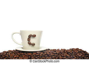 Coffee Forever - Coffee Cup on sea of coffee