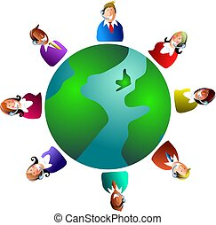 global customer service - customer service team around the...